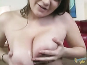 Housewife is tugging cock