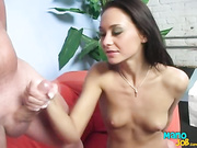 Babe is milking cock