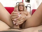 Paige Adams doing Handjob