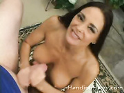 Naughty mature brunette handles cock like the pro she is