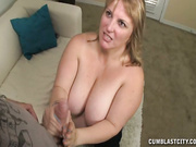 Busty mom get facial cumshot
