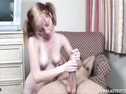 Alyssa takes control of a throbbing cock
