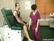 Nurse Dakota Charms getting cumblasted