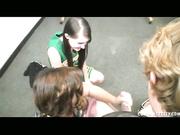 Teen handjob with passion