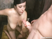 Christy gets creamed with a massive cumshot