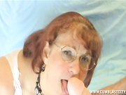 Granny Oral Angie gets cumblasted