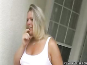Mommy lets JImmy give her a big huge messy facial