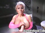 Lovette has hard cock between her hands