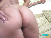 The blonde amateur slut is giving nice handjob