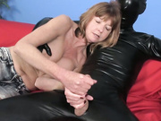 MILF Dee jerking off a dude