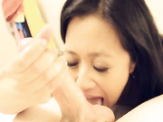 Asian milf Lucky Star milking her step son