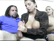 Vanessa Cage and her mom love giving handjob