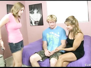 Mom Breanna strokes Joey at Clubtug with Breanna