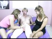 Mom Breanna strokes Joey at Clubtug with Breanna