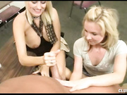 Milf Dallas Diamondz and teen give a handjob to mr franklin