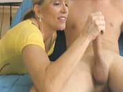 jessica sexton jerks a big cock at club tug