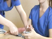 jc taylor and sofia resson give a medical handjob