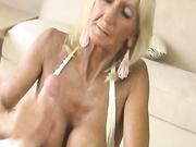 granny handjob tit fuck
