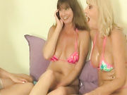 Dee Delmar hot Wife Tracy and Scarlet grannys give a big