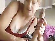 Granny Debbie is a horny freak
