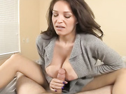 Bit boobs MILF Charlee stroking