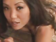 Pretty asian jerk off dick
