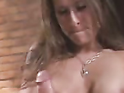 Babe was jerking cock