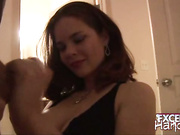 Big meloned Heidi giving handjob