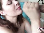 Heidi giving handjob and getting cumshoted