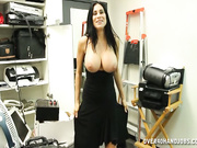 Busty milf Shella jerking off her boss