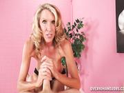 MILF Brynn jerking off cock