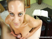 Hot milf Charli jerking off her step-son