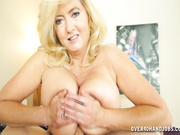 Tahnee stroking big cock of her step son