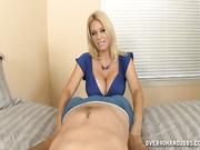 Charlee Chase strokes cock sensually