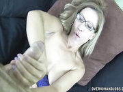 Busty Milf Onthewood stroking big cock