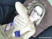 Busty Milf Onthewood stroking big cock