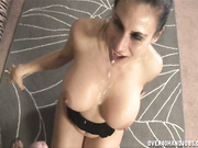 The missy makes him cum with her hands
