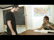 Billy gets scolded by his bossy school teacher Stacie Starr