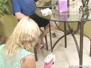 Crystal Jewels gives step son a handjob