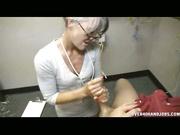 Leilani Lei wanking off a cock