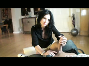 Milf Tatiana gives a feverishly handjob