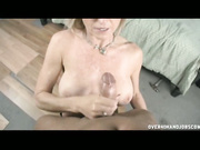 MILF jacking  young guy penis off
