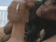 Serena Del Rio  tugs on some cock