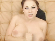 Gianna and her big titties giving you a handjob