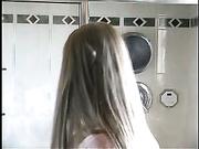 Bathroom Handjob on toilet