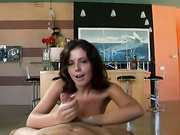 Penny Flame strokes a big penis