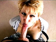 Swallowing wife loves cum