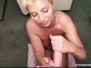 Milf stroking hard her step son