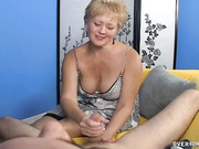 Busty mexican milf jerking off