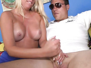 Teen Cherry gives her bf a handjob